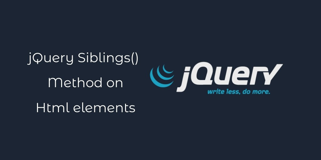 jQuery Find Siblings Elements