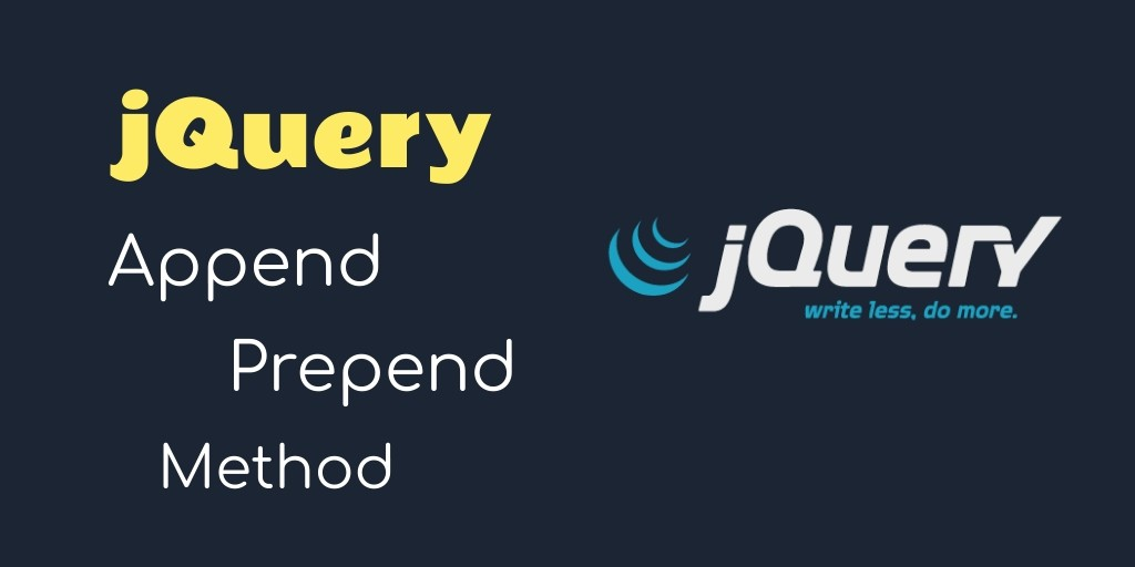 jquery append prepend method