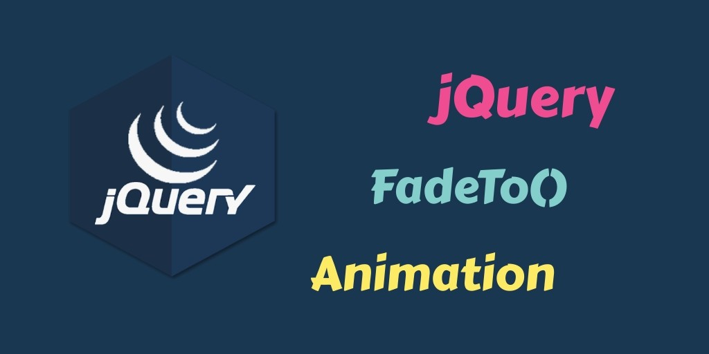 jquery fadeto animation