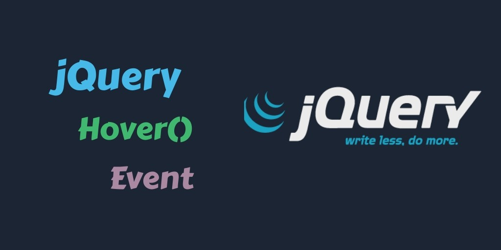 Event jQuery Api Hover() By Example