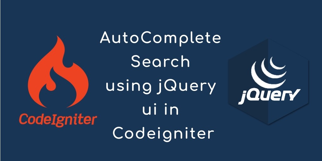 AutoComplete Search using jQuery ui in Codeigniter