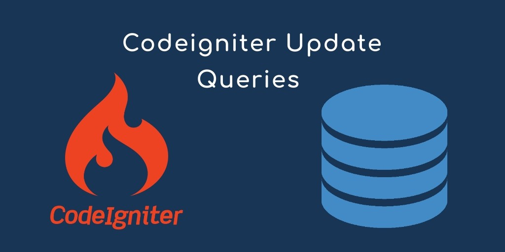 Update Query in Codeigniter Using Where Condition
