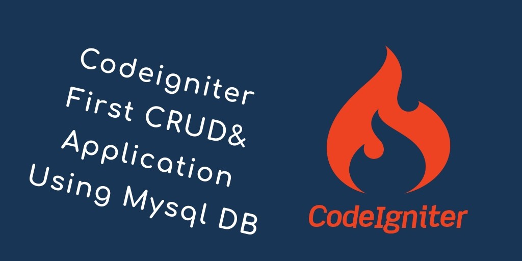 codeigniter 3 first crud