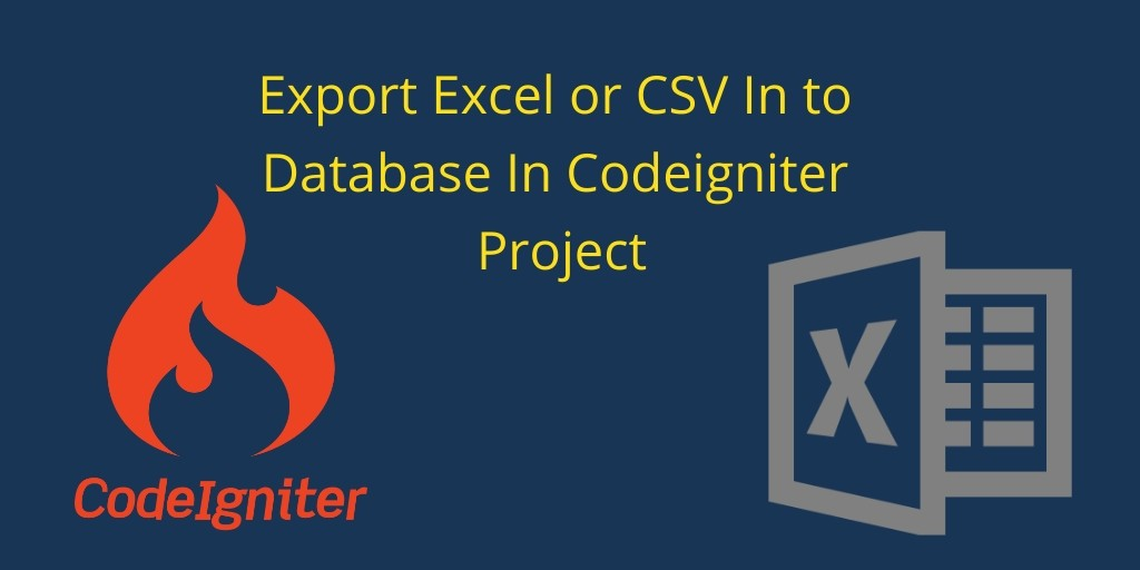 Export Data to Excel/CSV in Codeigniter Using PHPExcel