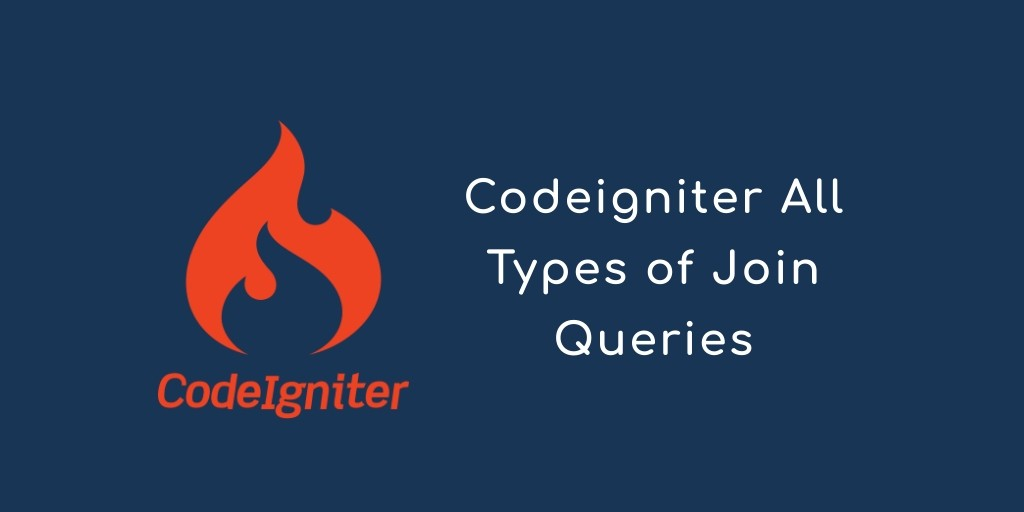 Codeigniter All join() Query With Example