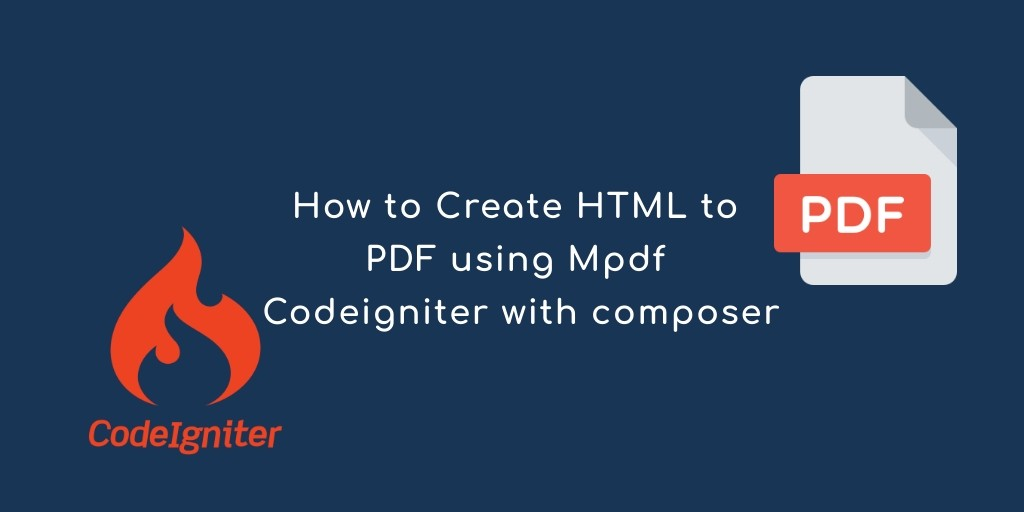 codeingiter pdf generate