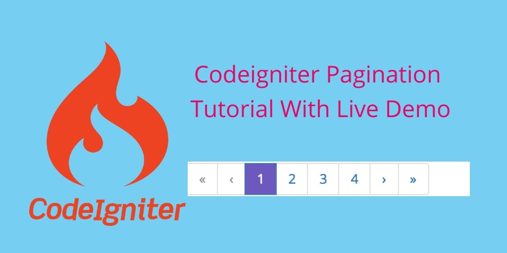 Codeigniter Pagination Library Example