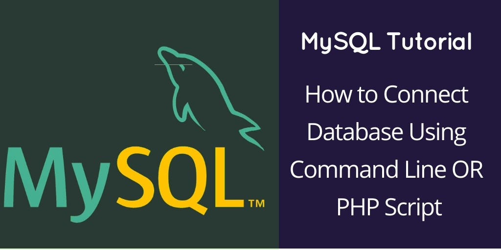 How to Connect Database Using Command Line OR PHP Script