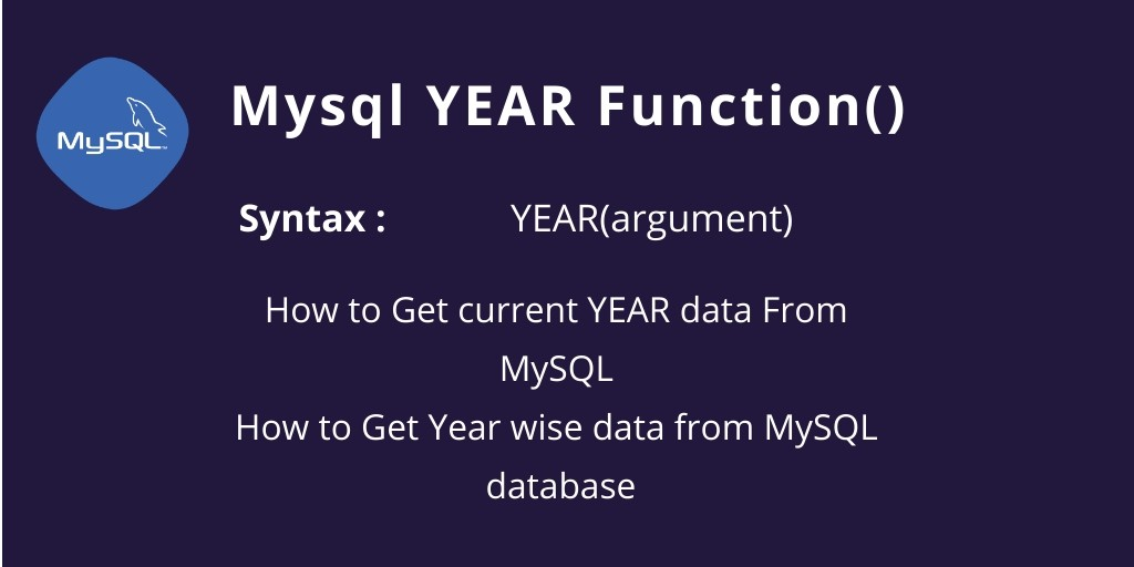 How to Get current YEAR data From MySQL