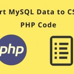 PHP Export Data In CSV File |PHP CSV Tutorial