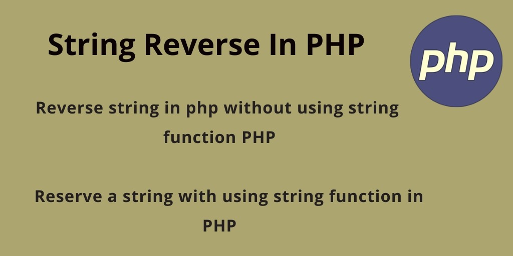 Reverse String in PHP | PHP Tutorial