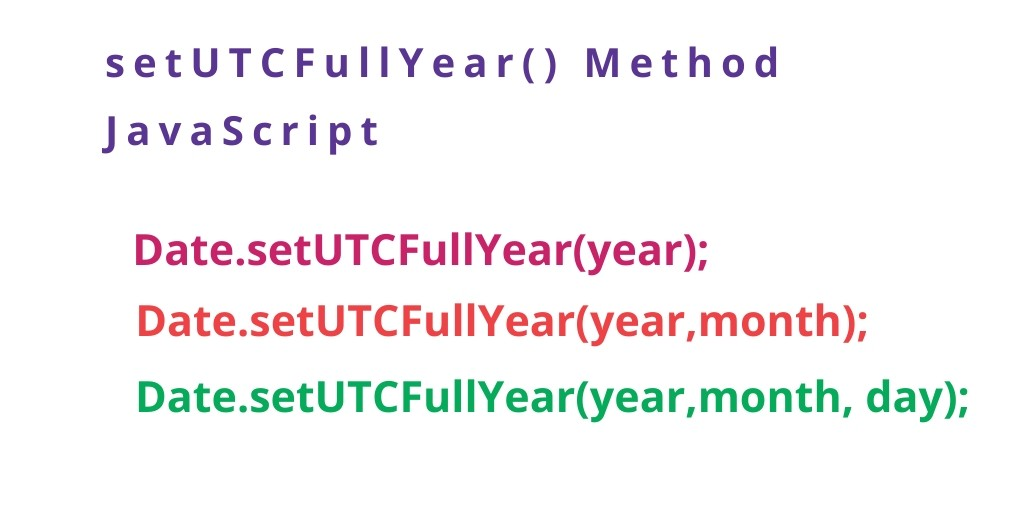 setUTCFullYear() Method JavaScript With Examples