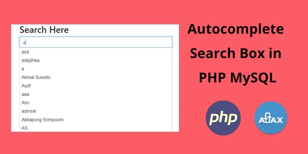 Autocomplete Search Box / textbox in PHP MySQL