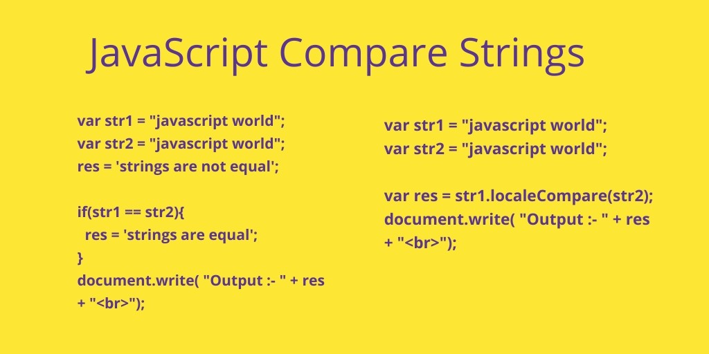 JavaScript Compare Strings – Examples