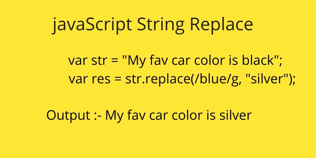 javaScript Replace() |javaScript String Replace All