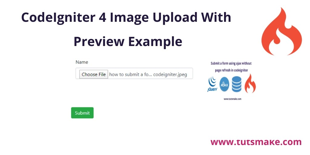 CodeIgniter 4 Image Upload With Preview Example
