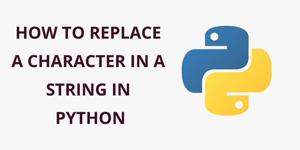 How to replace a character in a string in python