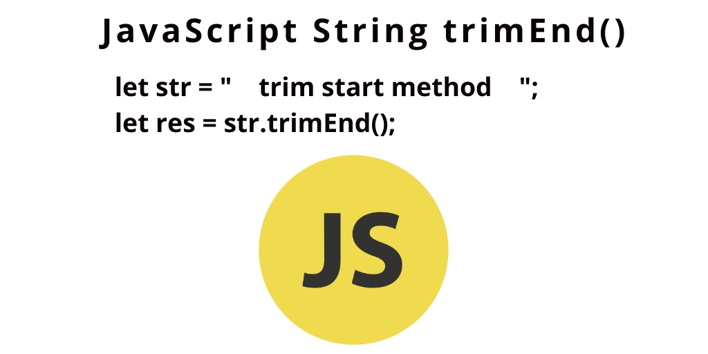Remove Whitespace from End of String JavaScript