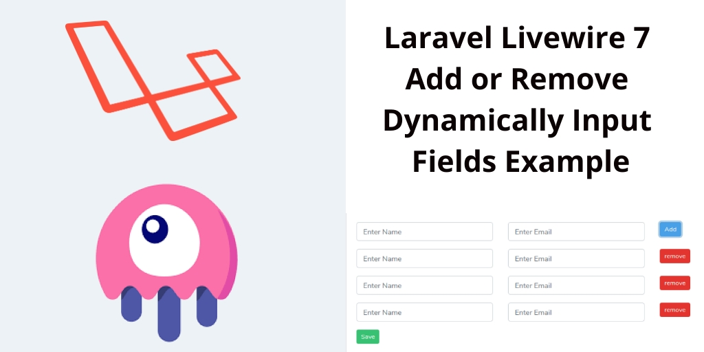 Laravel Livewire Add or Remove Dynamically Input Fields