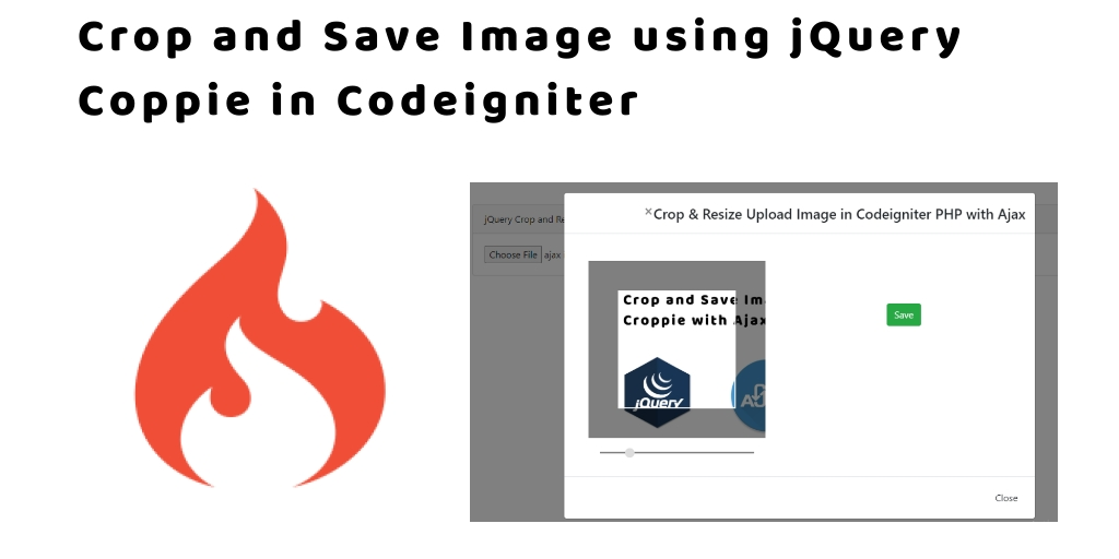 Crop and Save Image using jQuery Coppie in Codeigniter 4