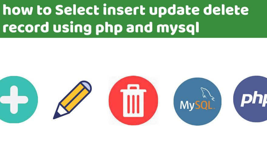 Select Insert Update Delete Record using PHP and MySQL