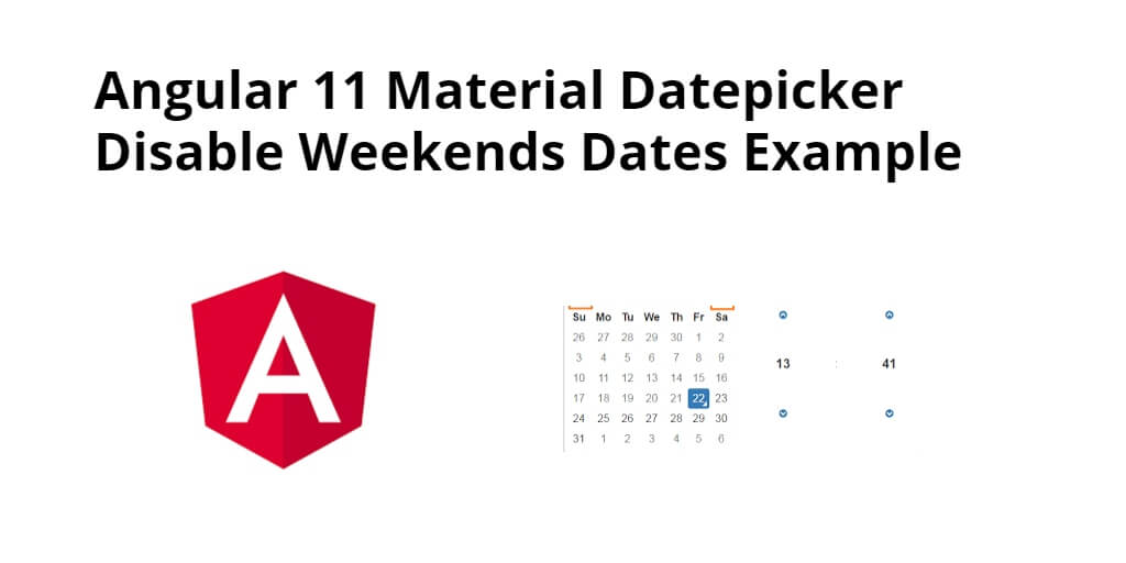 Angular 11 Material Datepicker Disable Weekends Dates - Yudhy Network