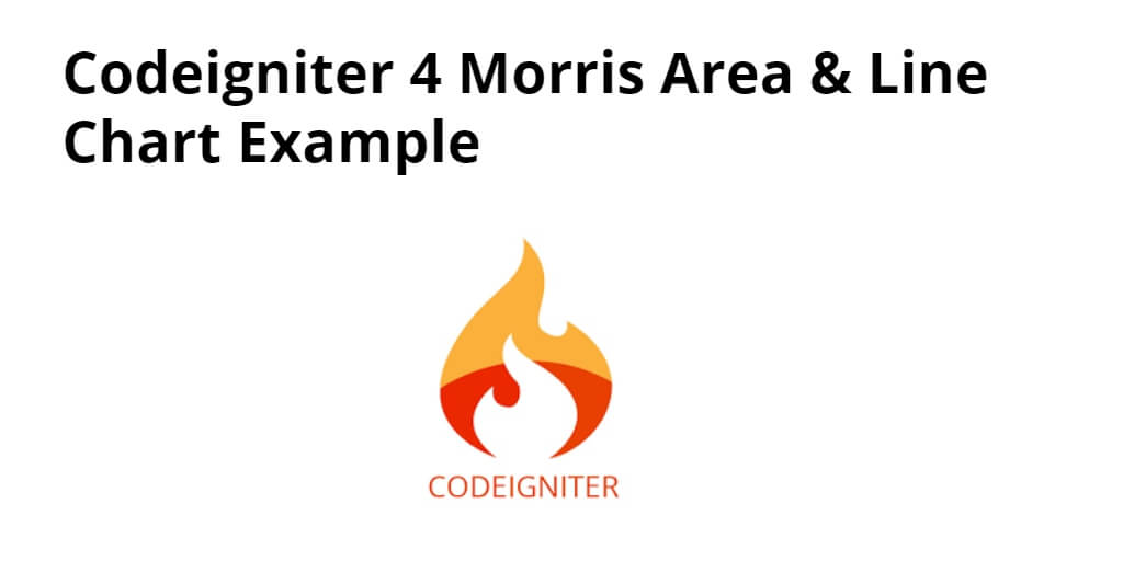 Codeigniter 4 Morris Area & Line Chart Example - Yudhy Network