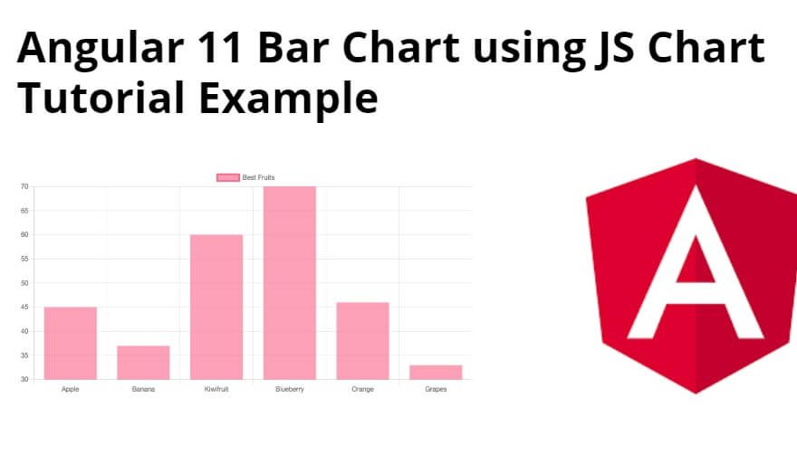 Angular 11 Bar Chart using JS Chart Tutorial Example