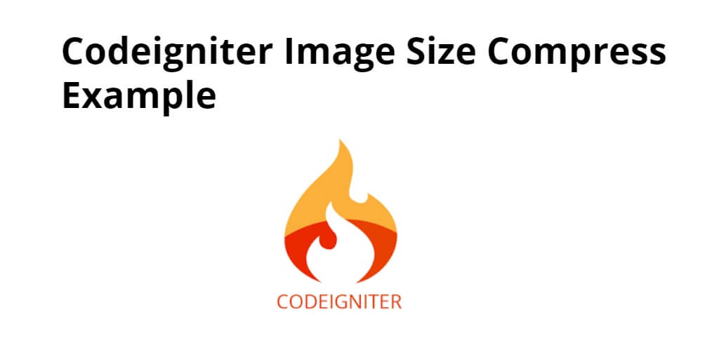 Codeigniter 4 Image Size Compress Example