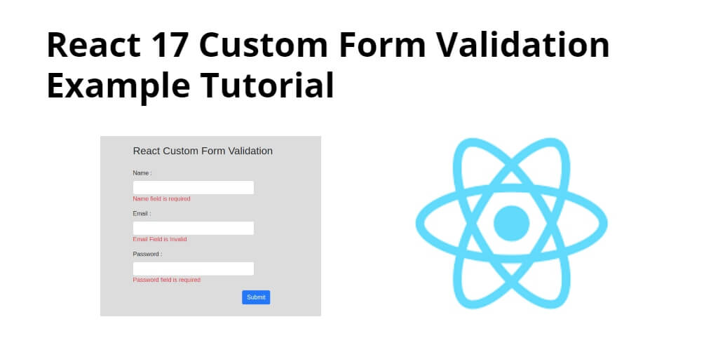 React js Custom Form Validation Tutorial with Example