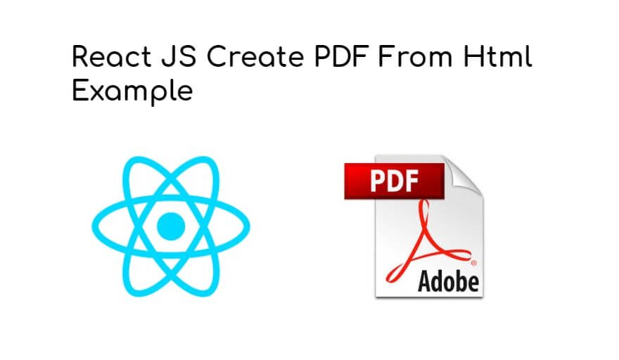 React JS Create PDF From Html Example