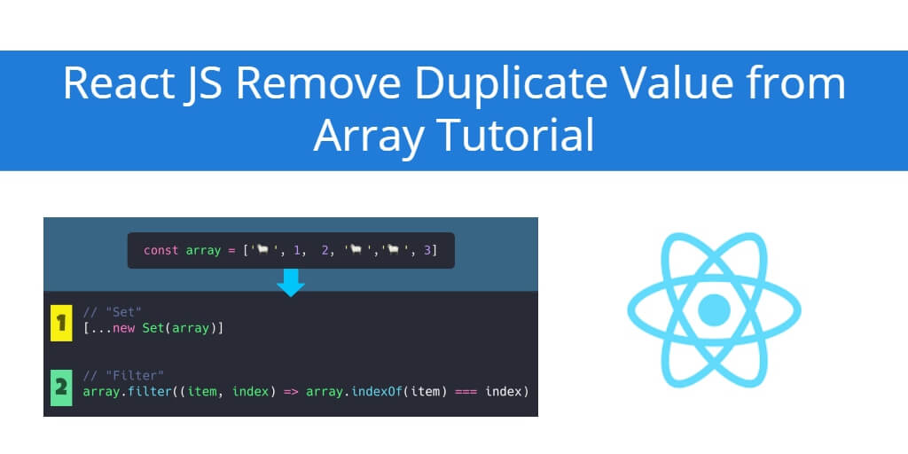 React JS Remove Duplicate Value from Array Tutorial