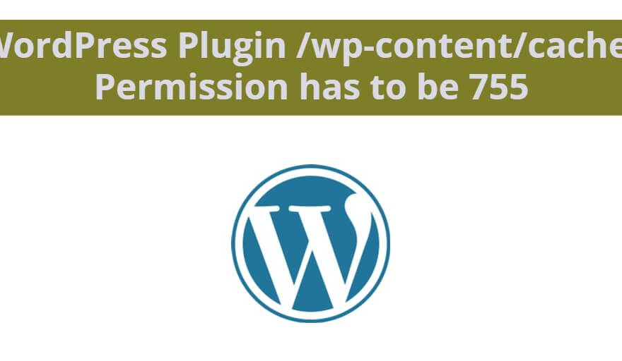WordPress Plugin /wp-content/cache/ Permission has to be 755