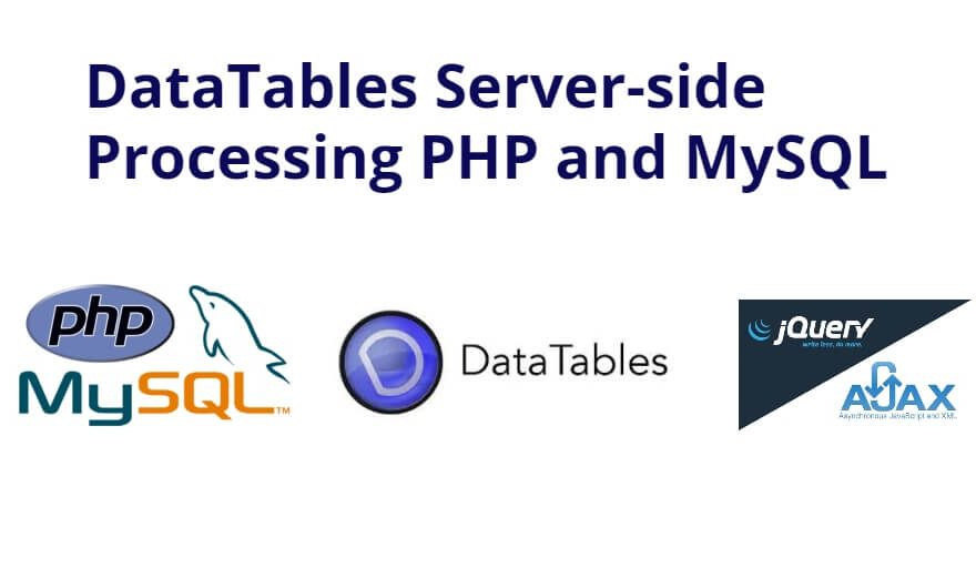 PHP and MySQL DataTables Server-side Processing