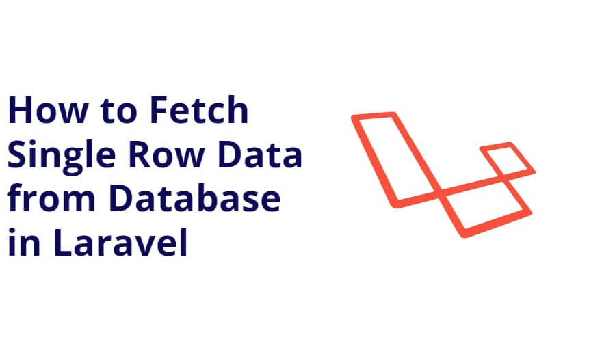 Fetch Single Row Data from Database in Laravel